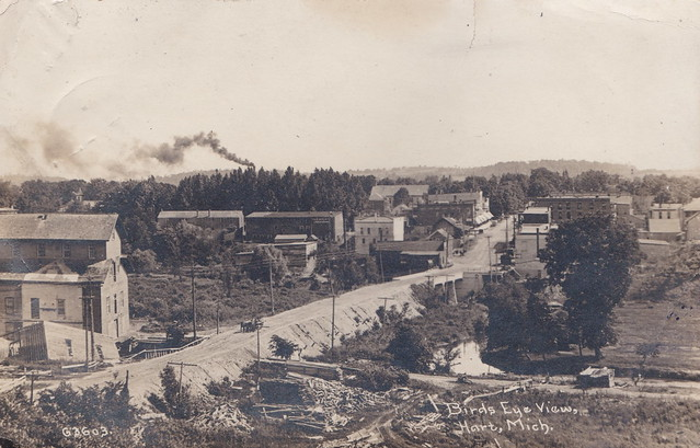 Photo:CEN Hart MI 1908 RPPC Gurney Roller Flour Grain Mill Oceana Mill DISASTER 1 By UpNorth Memories - Don Harrison