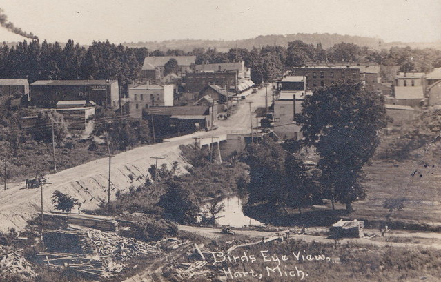 Photo:CEN Hart MI 1908 RPPC Gurney Roller Flour Grain Mill Oceana Mill DISASTER 1-2 By UpNorth Memories - Don Harrison