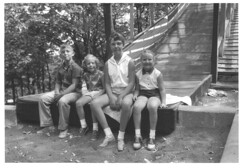 Members of the Salmon Family on the Braddock Heights Slide, July 1960