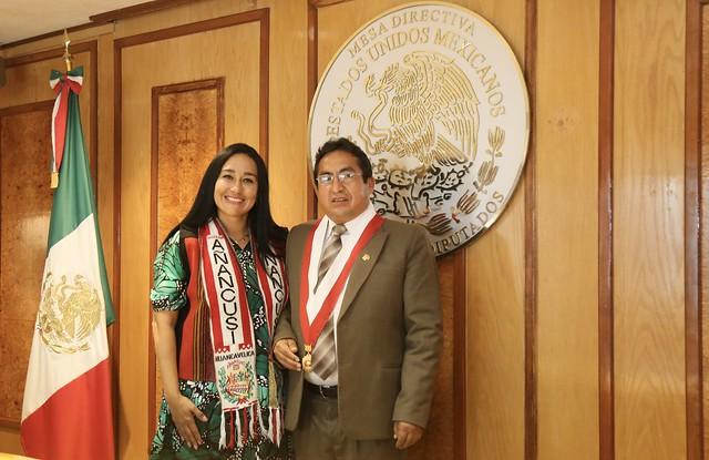 20/09/2021 Reunión De Diputada Rosalinda Domínguez Y Karla Almazán Con Congresistas Del Perú