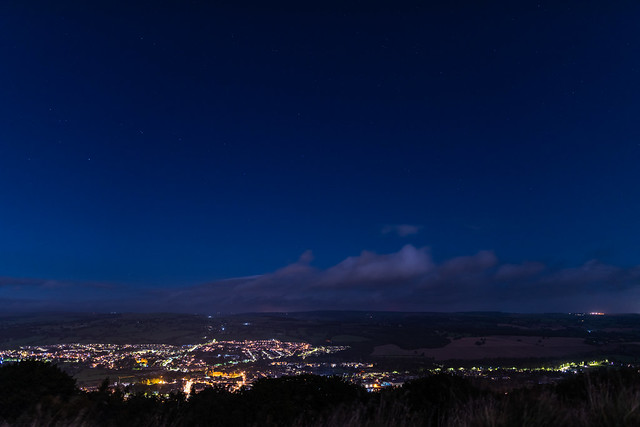 Midnight View North Over Otley
