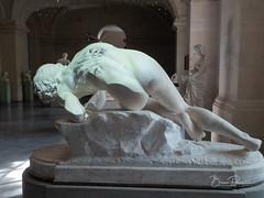 Projection sur statue