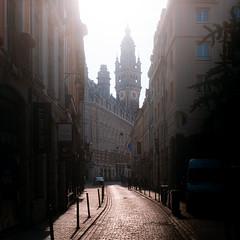 Rue Lepelletier, vue sur la CCI de Lille