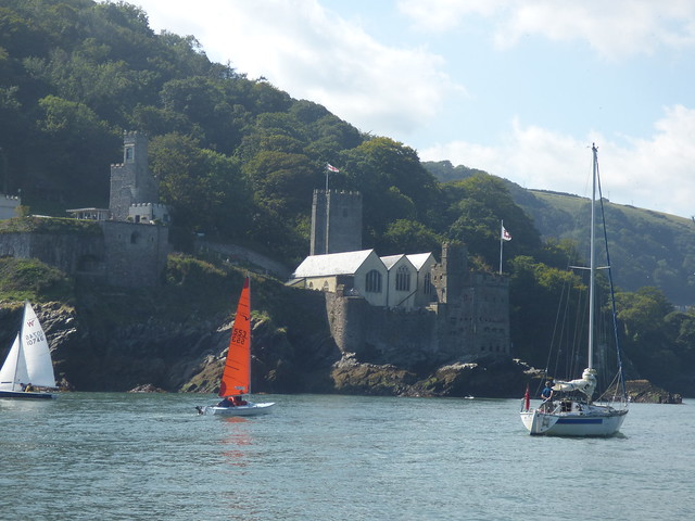 Photo:The Paddle Steamer Kingswear Castle river cruise on the River Dart - St Petrox Church and Dartmouth Castle By ell brown