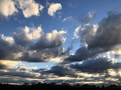 Clouds and shadow, almost sunset, sky from Georgetown, Washington, D.C.