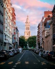 Rue Nicolas Leblanc et Église Saint-Michel à Lille