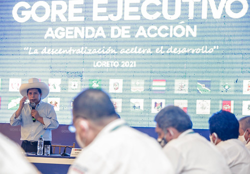 Presidente de la República, Pedro Castillo, clausuró 15 º Gore Ejecutivo en Loreto