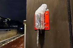 Icy fire alarm strobe