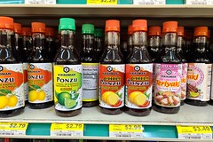 Bottles of various sauces at Cocos Food [02]