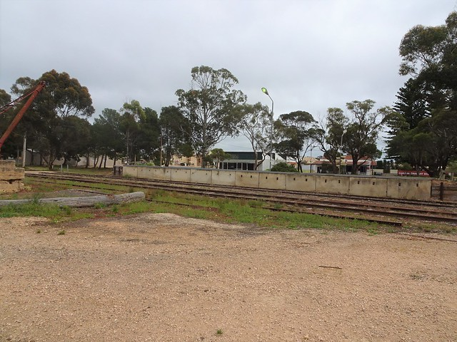 Photo:Bute Yorke Peninsula. The Bute Railway Station Platform. All the station buildings are gone. The railway from the port of Wallaroo reached here in 1878. By denisbin