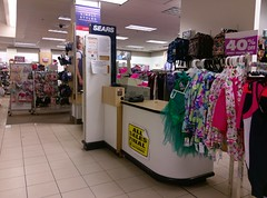 See that older Sears logo (at the top of that divider wall at the checkout station)