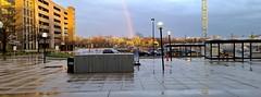 Rainbow at New Carrollton station