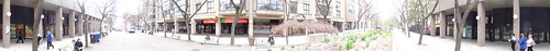 Pano west of the old North building of the St Lawrence Market, shortly before demolition, 2015 05 05 (2)