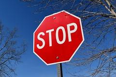 Stop sign at Warrenton Volunteer Fire Company