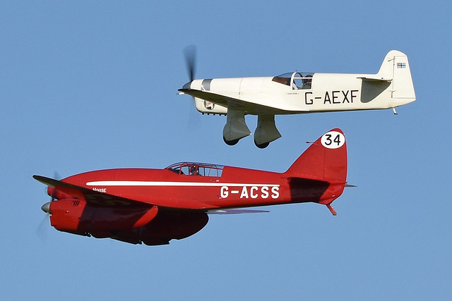 Photo:de Havilland Comet 'G-ACSS' & Percival Mew Gull 'G-AEXF' By HawkeyeUK