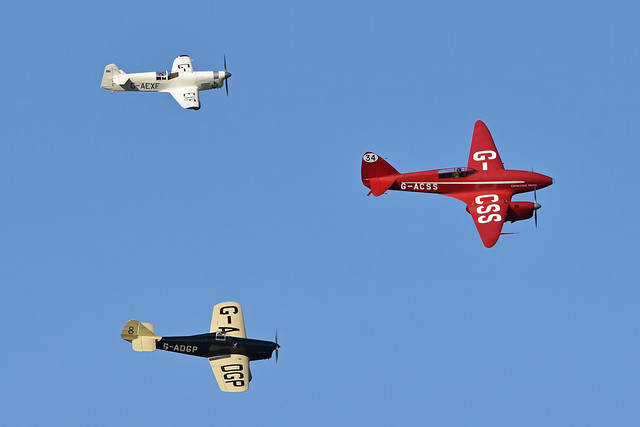 Photo:Comet, Mew Gull and Hawk Speed Six. Old Warden, 17-7-2021 By HawkeyeUK