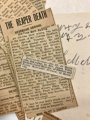 Newspaper Clippings from an Old Family Bible, September, 2021