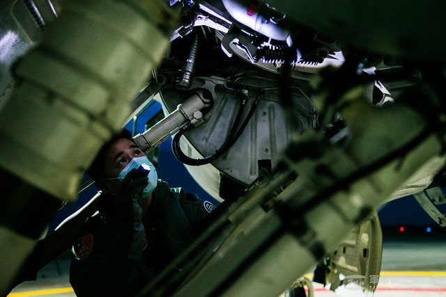 漢光37號演習空軍第五聯隊夜間升空攔截