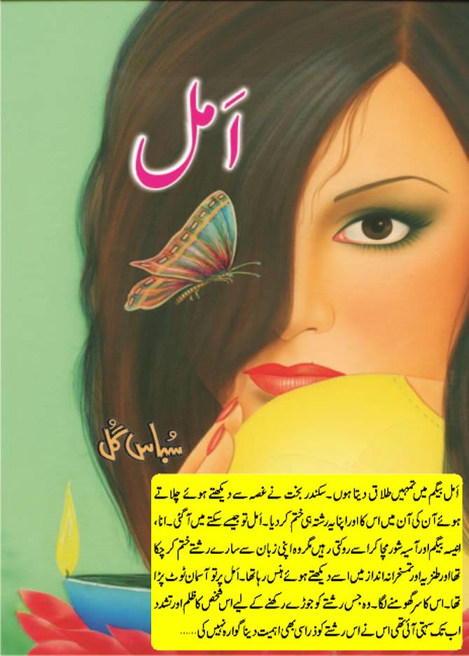 Amel is Romantic and Rude hero cousin based Urdu novel, innocent heroine and Women Rights based Interesting urdu novel by Subas Gul.