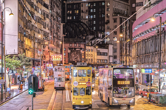 Night at North Point, Hong Kong