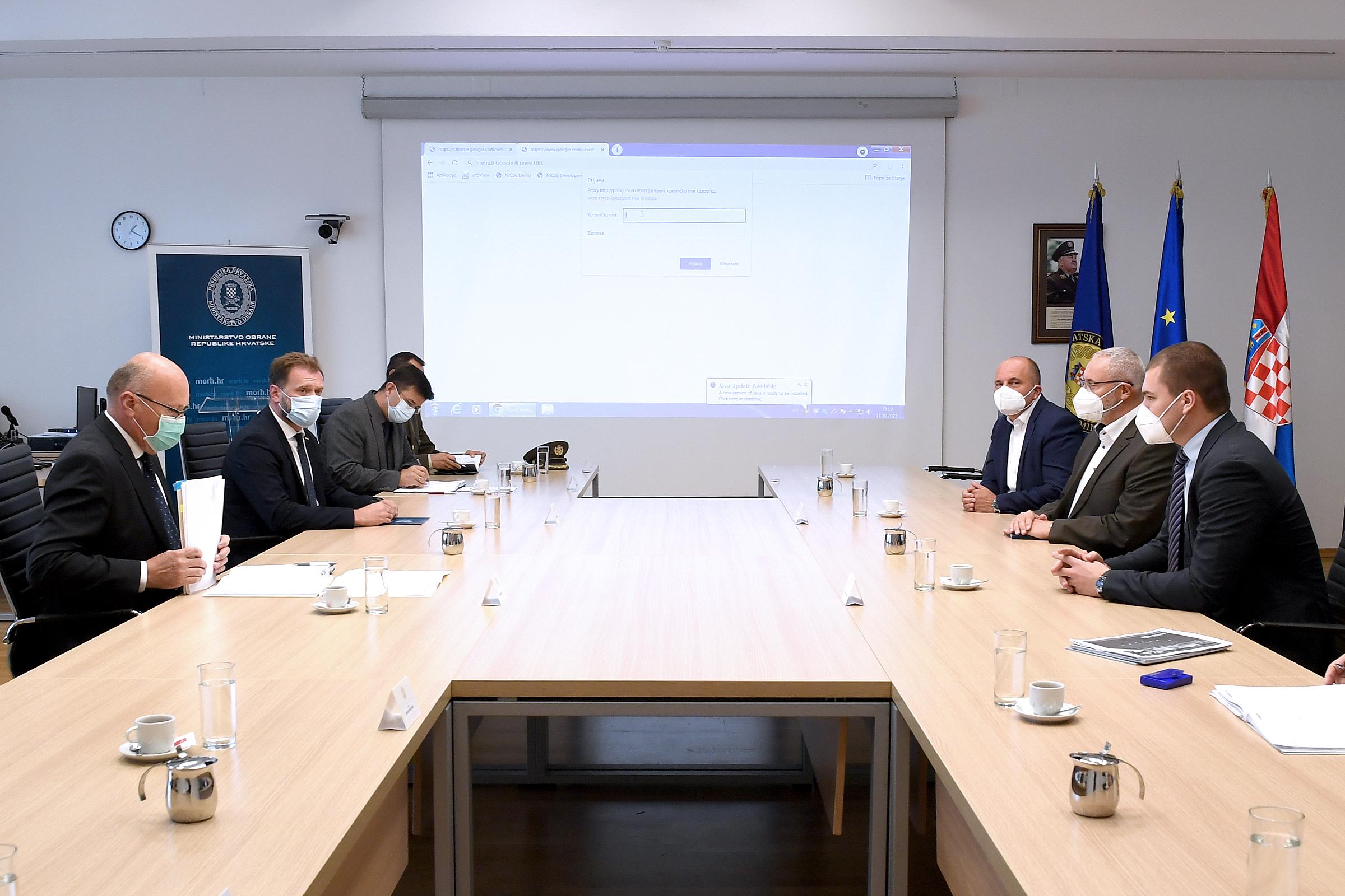 Ministar Banožić održao sastanak s predstavnicima Czechoslovak Group CSG