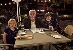 The twins and I at dinner last night at the Bavarian Inn in Shepherdstown