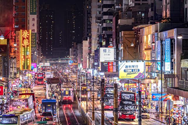 Night at Yuen Long, Hong Kong