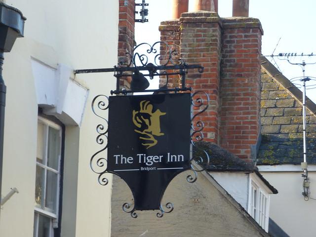 Photo:The Tiger Inn Bridport - Barrack Street, Bridport - pub sign By ell brown