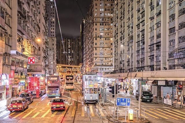 Night at Sai Wan Ho, Hong Kong