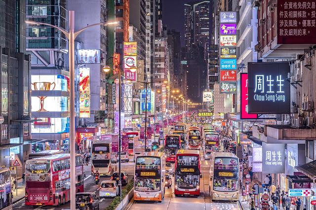 Night at Mong Kok, Hong Kong