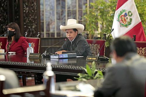 Presidente Pedro Castillo lidera Consejo de Ministros 20.10.2021