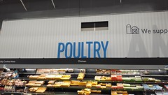 Poultry (the corrugated look is fake - yet still cool, but the foam rubber blue letters are honest, for real 3D)!