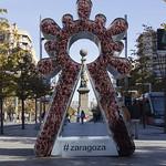Escultura Virgen del Pilar 2021 plz aragón
