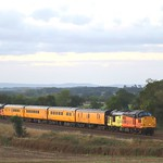 37116 and 37175 rushing through Abbotswood Junction 21/10/21