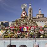 Virgen Ofrenda de Flores 2021 de frente