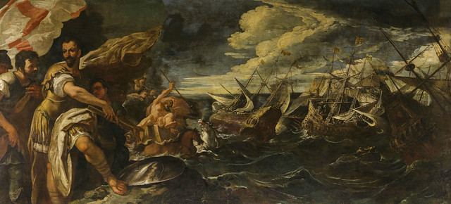 Photo:Alessandro Farnese witnesses the destruction of the Invincible Armada By lluisribesmateu1969