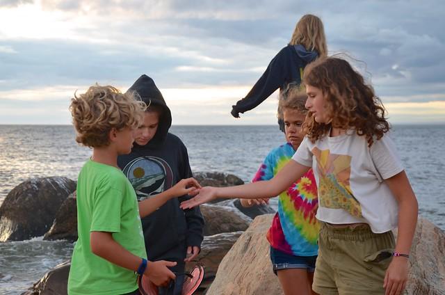 Photo:Kids On The Beach At Sunset By Joe Shlabotnik