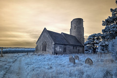 Infrared HDR All Saints church Ramsholt Suffolk