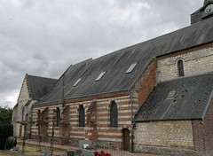 Beaufort-en-Santerre (église) façade Nord 1  • 9500 - Photo of Framerville-Rainecourt